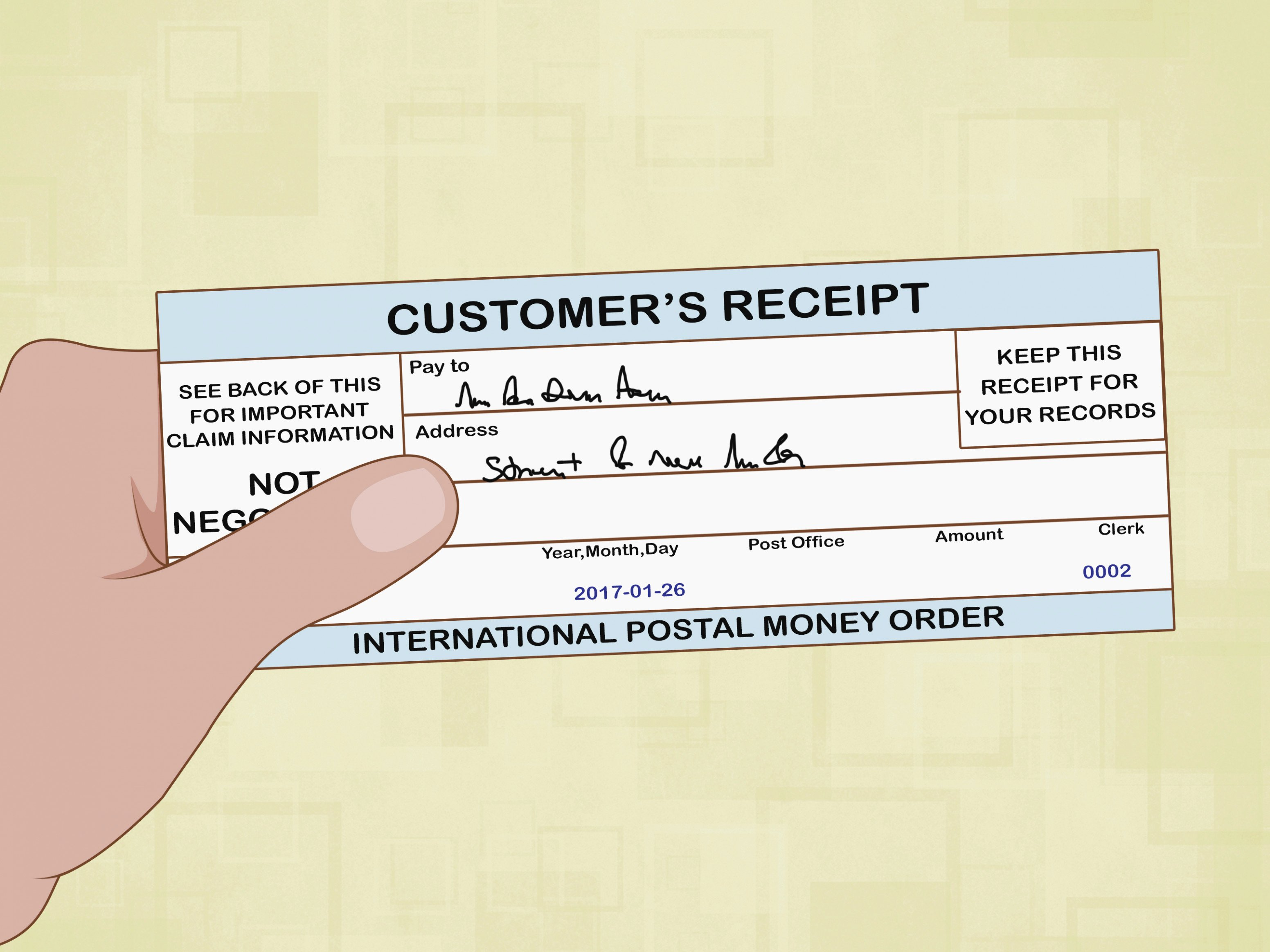 Money order Receipt Template Best Of How to Fill Out A Money