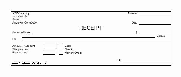 Money order Receipt Template Elegant Three Identical Horizontal Cash Receipts Print Out Per