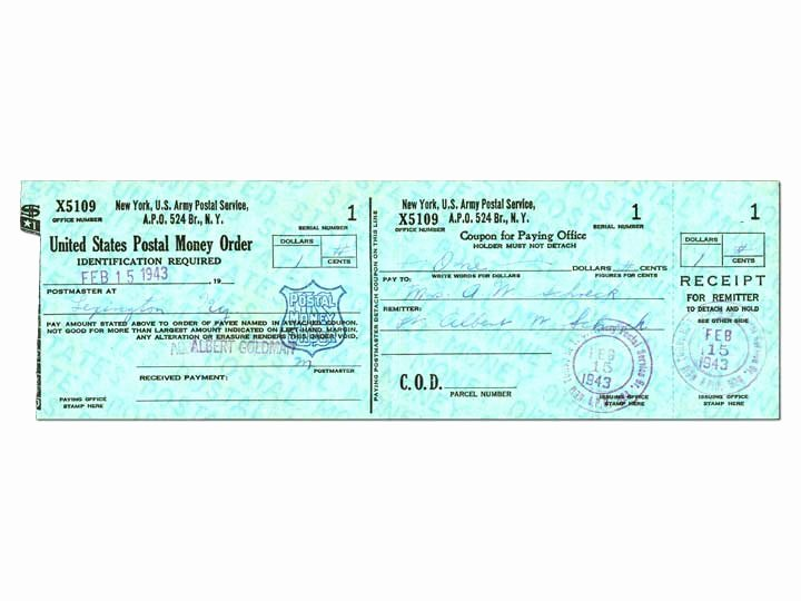 Money order Receipt Template New Money order From Uss Kanawha Ao 1