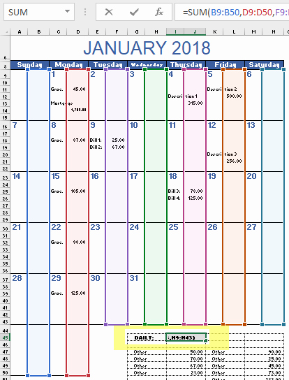 Monthly Budget Calendar Template Awesome Monthly Bud Calendar Template