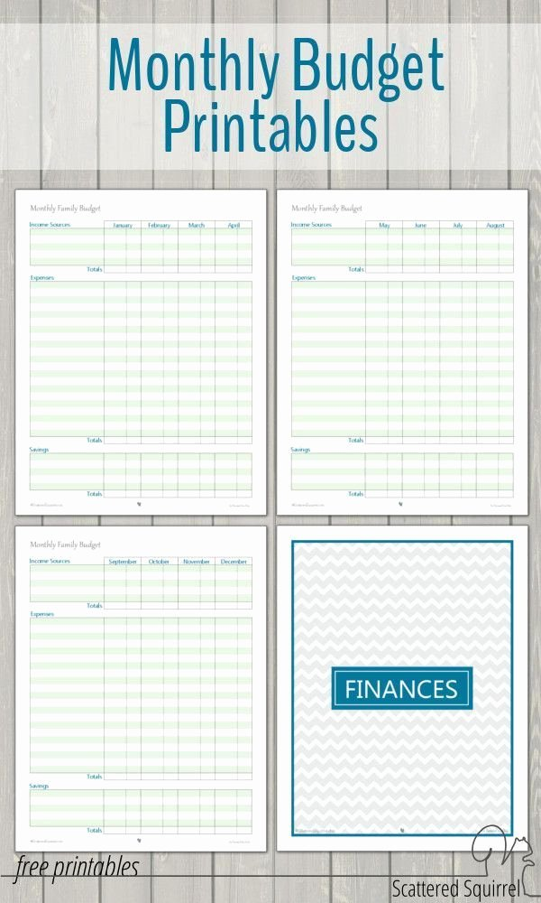 Monthly Budget Calendar Template Best Of Monthly Family Bud Printables