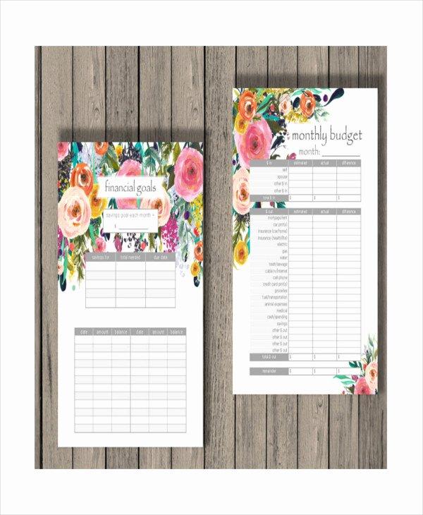 Monthly Budget Calendar Template Fresh Printable Monthly Bud Template 21 Free Excel Pdf