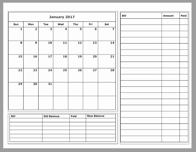 Monthly Budget Calendar Template Luxury Grace Christian Homeschool Free 2017 Bud Calendars