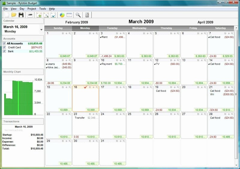 Monthly Budget Calendar Template Luxury the Best Calendar Based Finance Management Apps