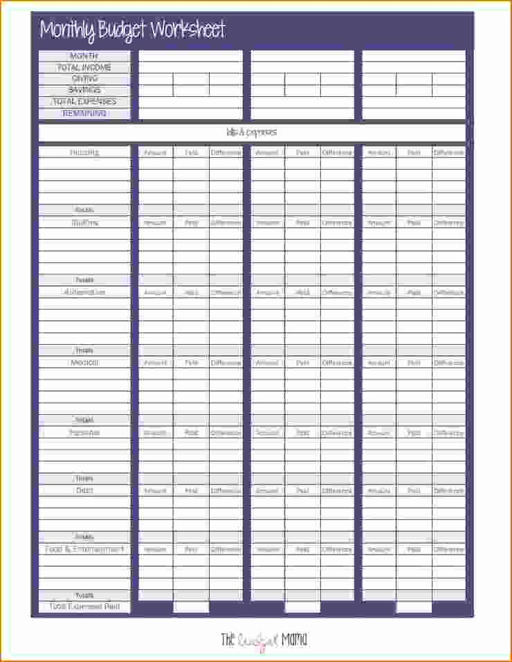 Monthly Budget Template Pdf Awesome 6 Bud Sheet Pdf