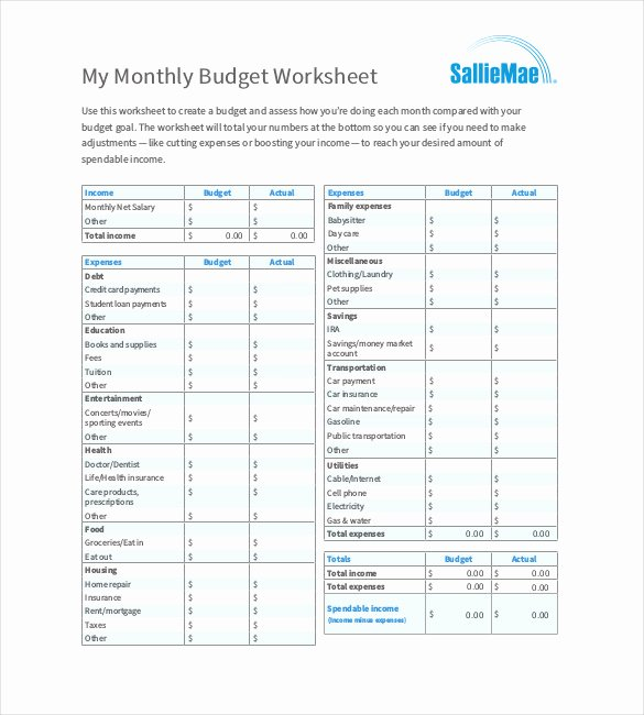 Monthly Budget Template Pdf Beautiful 22 Monthly Bud Templates Word Pdf Excel