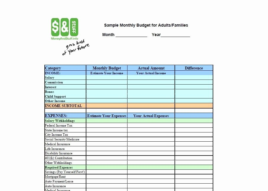 Monthly Budget Template Pdf Inspirational 30 Bud Templates & Bud Worksheets Excel Pdf