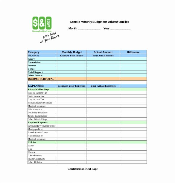 Monthly Budget Template Pdf Inspirational Bud Tracker Template 10 Free Word Excel Pdf