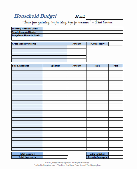 Monthly Budget Template Pdf Lovely A Frugal Life top Five Printable Bud Worksheets