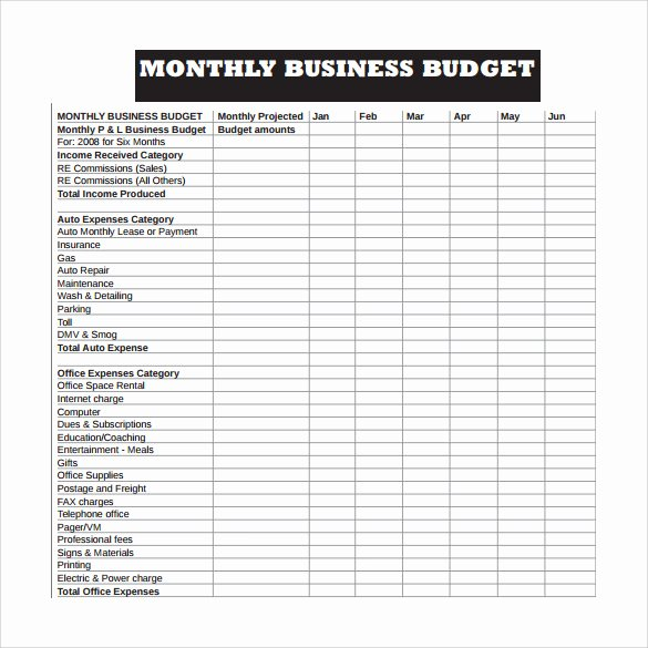 Monthly Budget Template Pdf Luxury Free 16 Sample Business Bud Templates In Google Docs