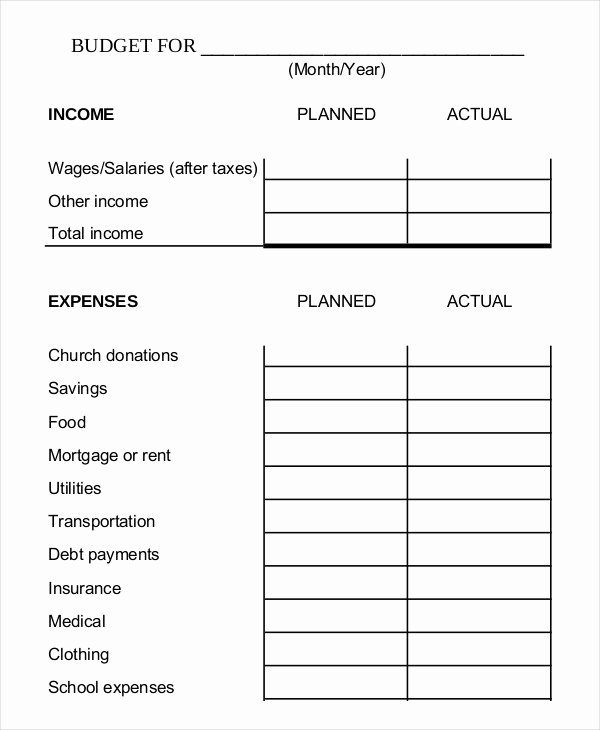 Monthly Budget Template Pdf New 14 Simple Bud Worksheet Templates Pdf Doc
