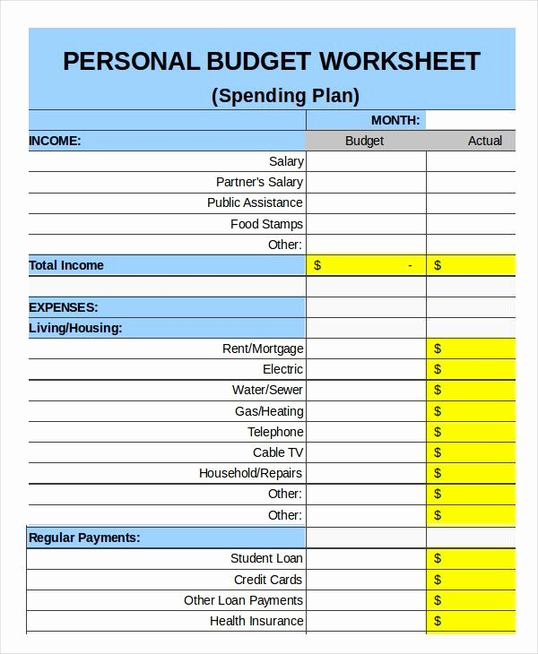 Monthly Budget Template Pdf New Family Bud Templates