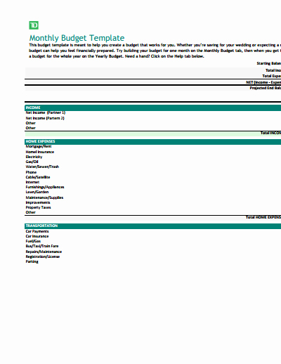 Monthly Budget Template Pdf New Monthly Bud Template Free Download Create Edit Fill