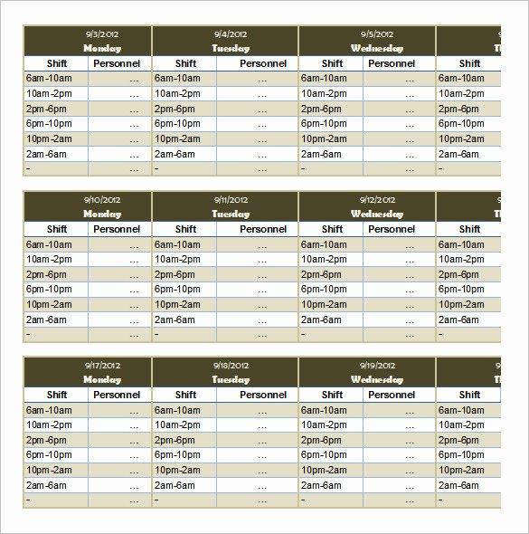 Monthly Employee Schedule Template Luxury 53 Sample Schedule Templates
