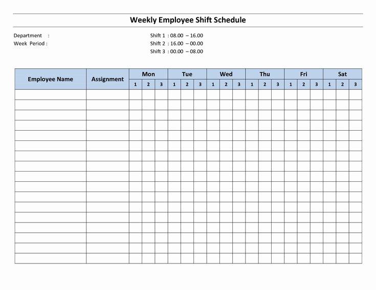 Monthly Employee Schedule Template Luxury Free Printable Employee Work Schedules