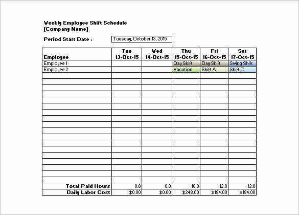 Monthly Employee Schedule Template Luxury Monthly Employee Shift Schedule Template – Planner