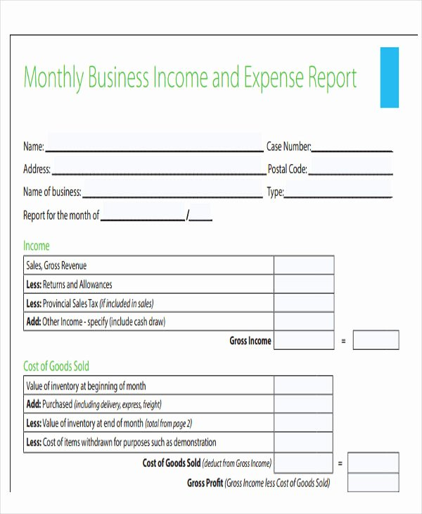 Monthly Expense Report Template Best Of 35 Expense Report Templates Word Pdf Excel