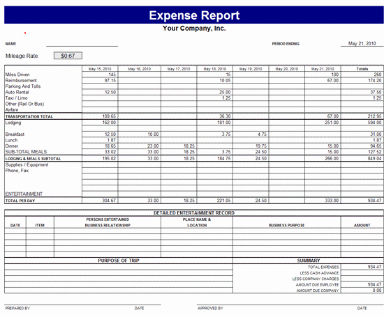 Monthly Expense Report Template Unique Monthly Expense Report Template