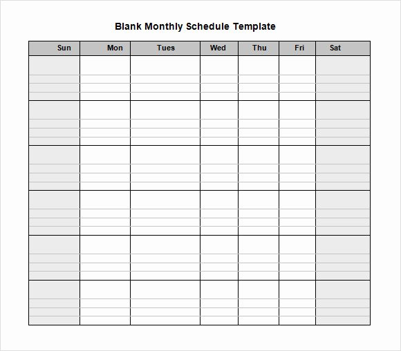 Monthly Staff Schedule Template Best Of Blank Schedule Template 6 Download Free Documents In Pdf
