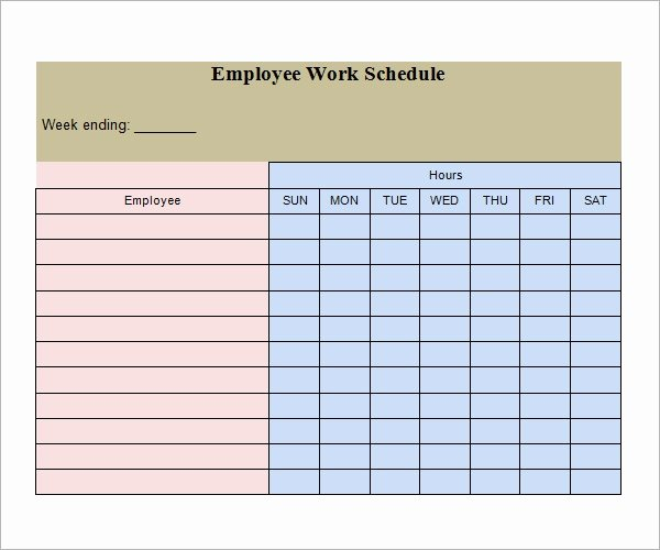 Monthly Staff Schedule Template New Free 26 Samples Of Work Schedule Templates In Google Docs
