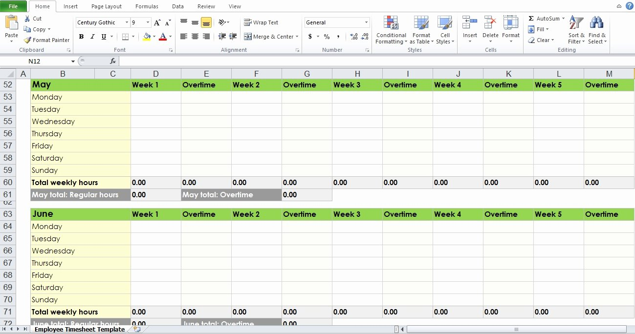Monthly Timesheet Template Excel Lovely Blank Employee Timesheet Template Excel Tmp
