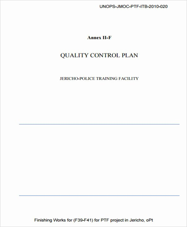 Mortgage Quality Control Plan Template Best Of 6 Control Plan Samples & Templates Pdf Doc