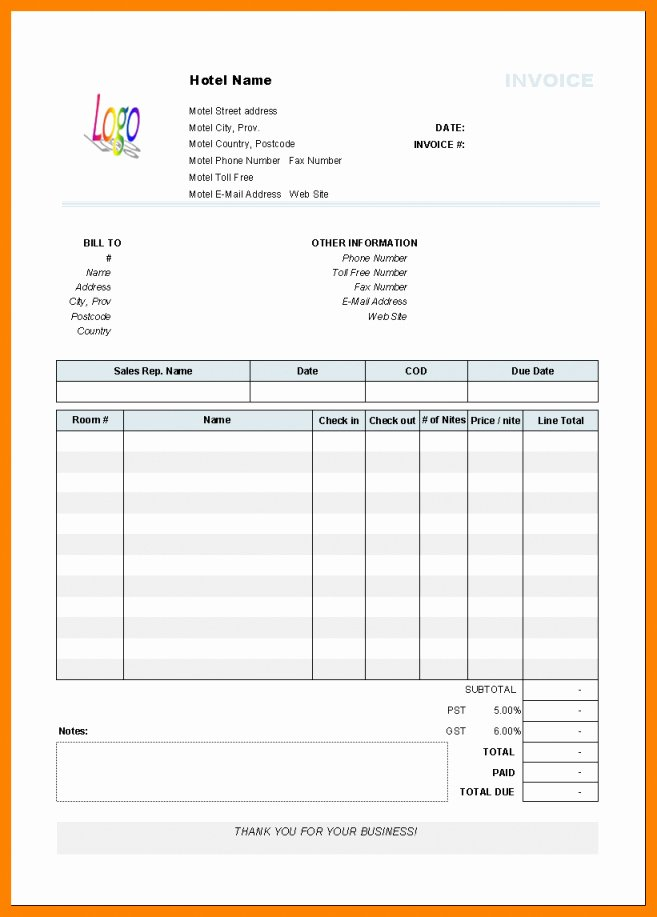 Motel 6 Receipt Template Beautiful Motel 6 Receipt