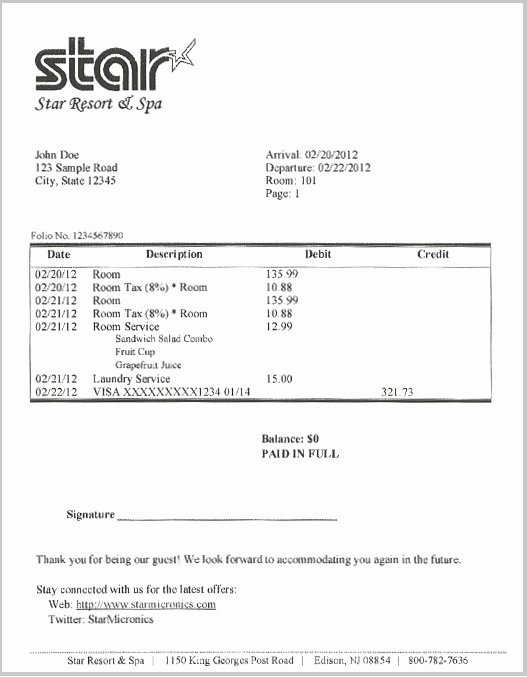 Motel 6 Receipt Template Unique 23 Of Hilton Hotel Bill Template