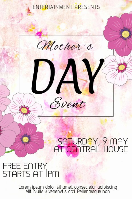 Mother Day Flyer Template Free Awesome Mothers Day event Flyer Template