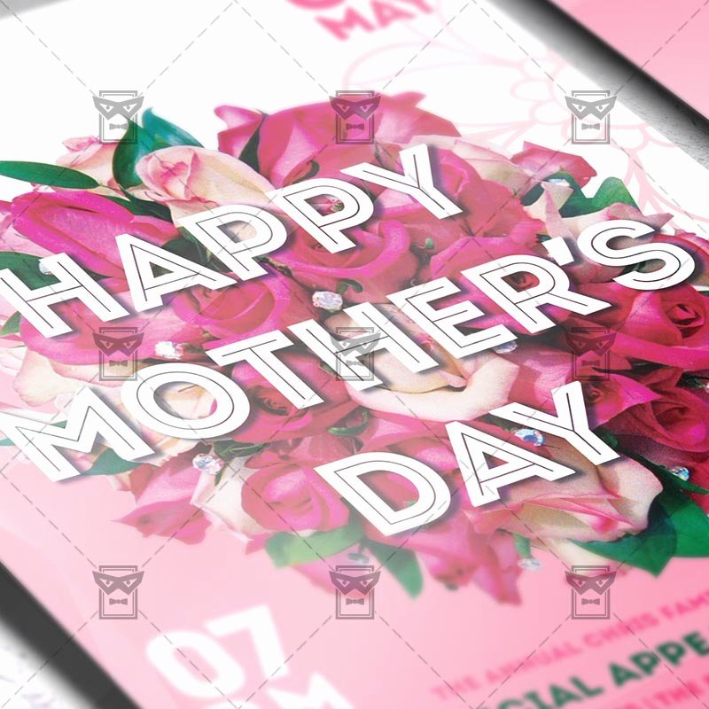 Mother Day Flyer Template Free Beautiful Mother's Day – Premium Flyer Template Instagram Size