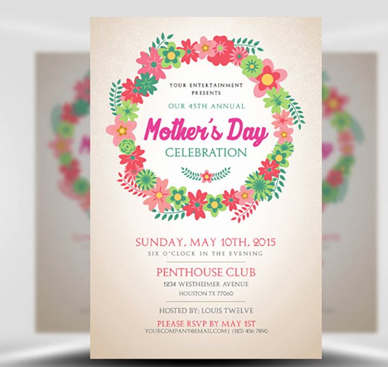 Mother Day Flyer Template Free Best Of Mother S Day Flyer Template Flyerheroes