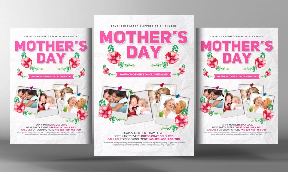 Mother Day Flyer Template Free Elegant Happy Mother S Day Flyer Psd Flyer Templates On Creative