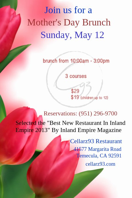 Mother Day Flyer Template Free Elegant Mother S Day Flyer Template