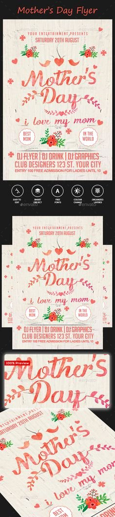 Mother Day Flyer Template Free Fresh Happy Mother S Day