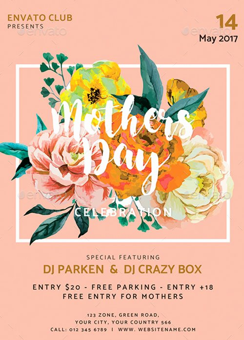 Mother Day Flyer Template Free Fresh Mothers Day event Flyer Template for the Perfect Mothers Day