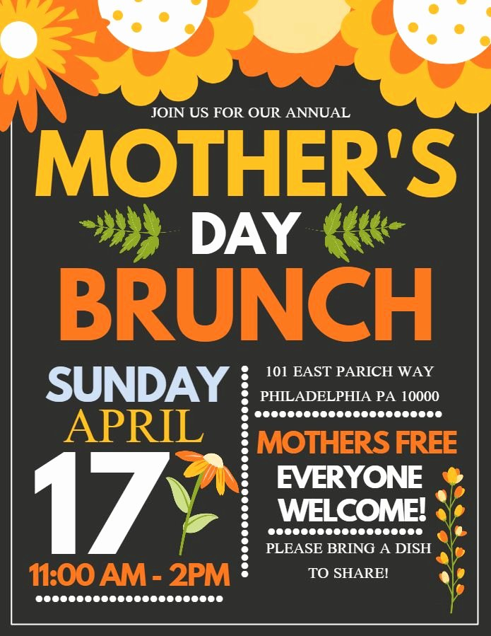 Mother Day Flyer Template Free Lovely 39 Best Mother S Day themed Poster Design Images On Pinterest