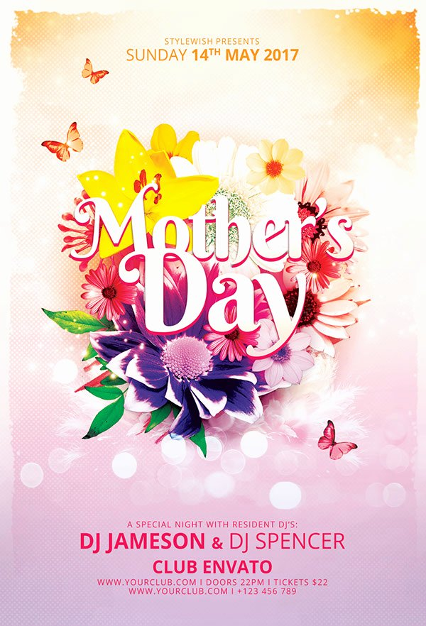 Mother Day Flyer Template Free Lovely Mother S Day Flyer On Pantone Canvas Gallery