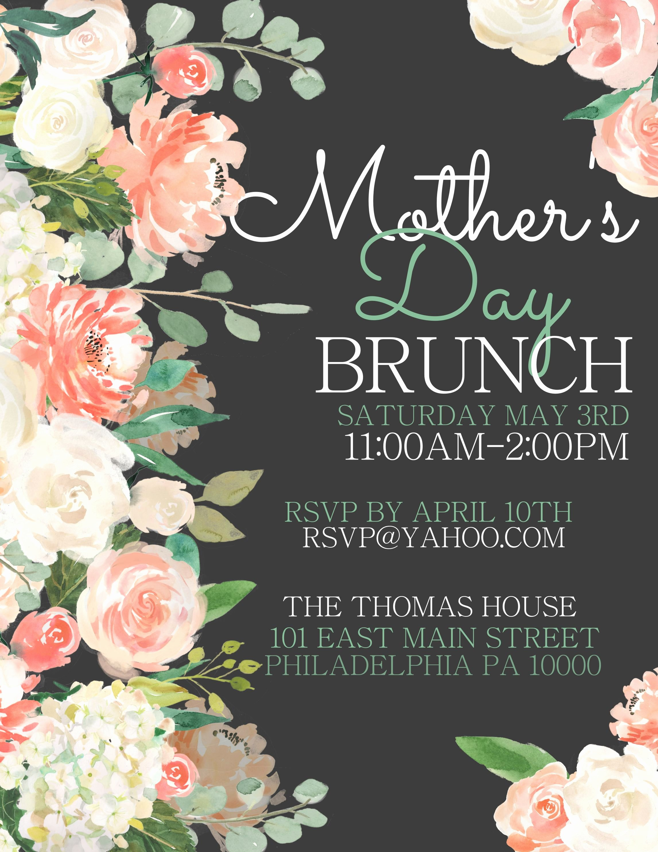 Mother Day Flyer Template Free Luxury Mother S Day Lunch Flyer Design to Customize