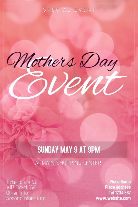 Mother Day Flyer Template Free Luxury Mothers Day event Flyer Template