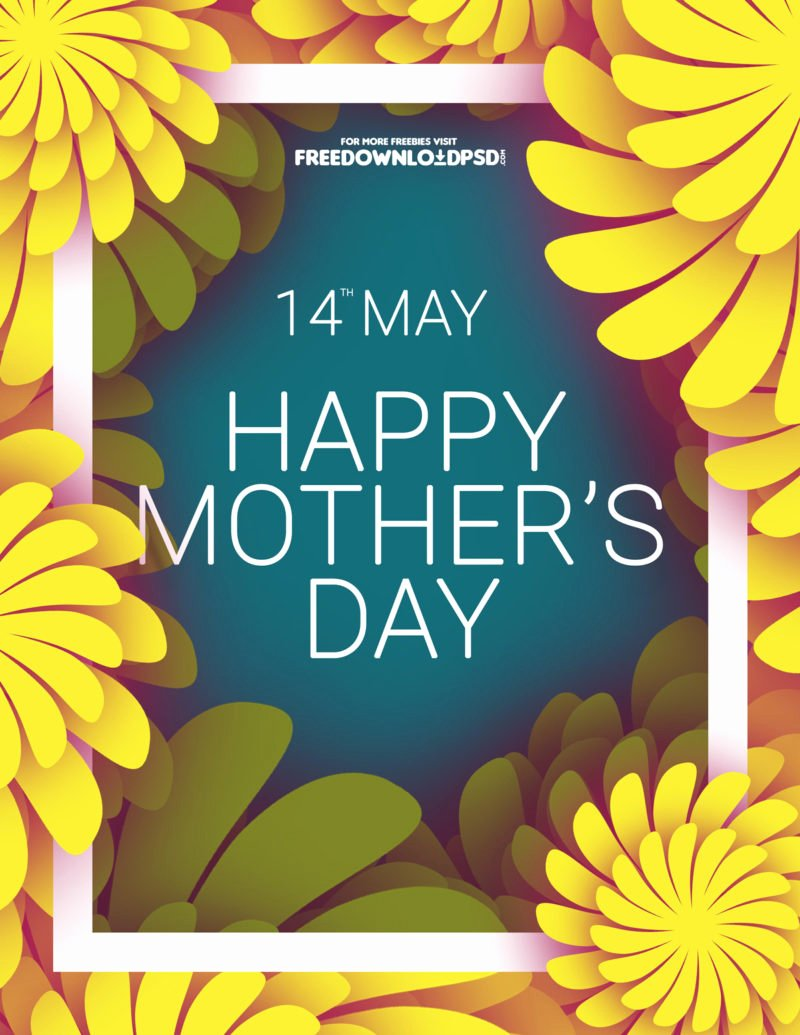 Mother Day Flyer Template Free New [download] Mothers Day Colorful Flyer