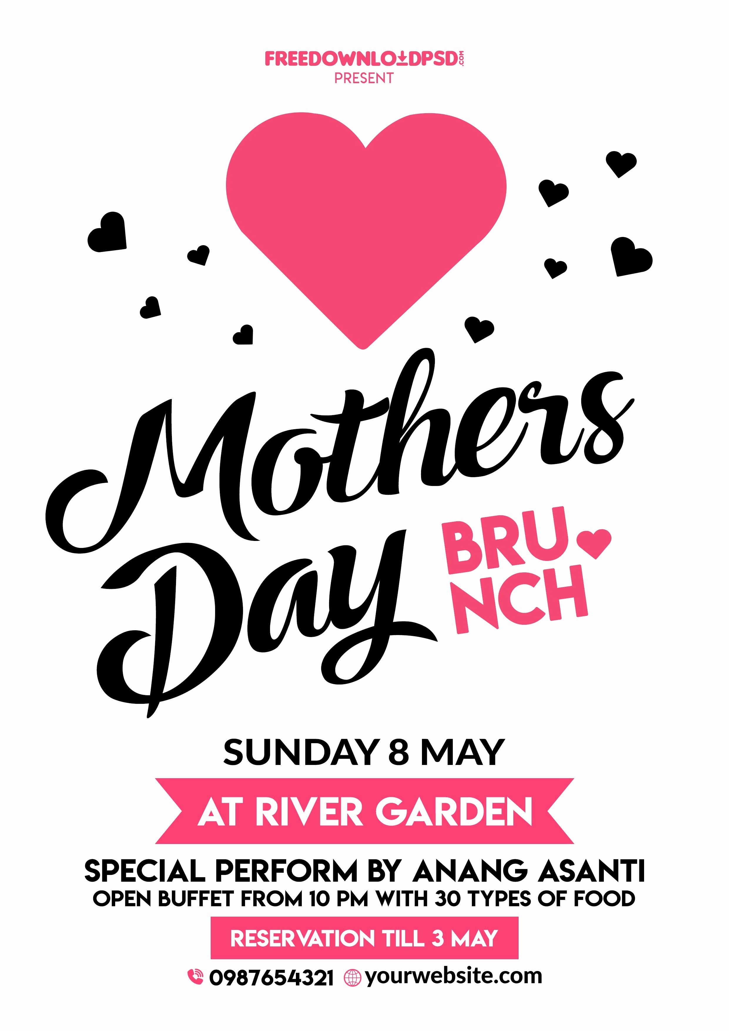 Mother Day Flyer Template Free New Happy Mothers Day Flyer Free Psd