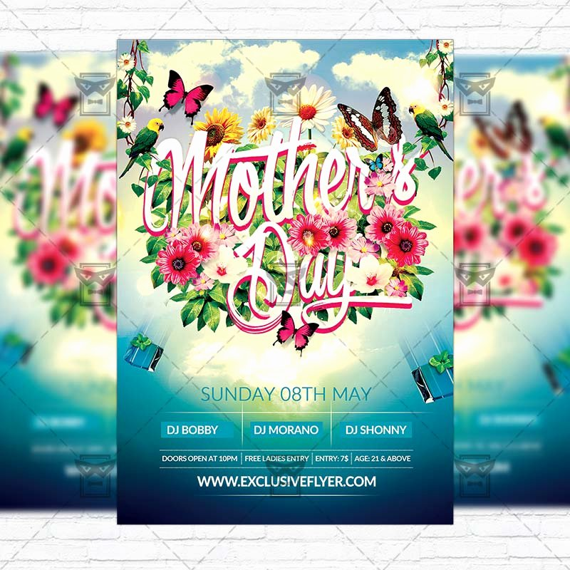 Mother Day Flyer Template Free New Mother's Day – Premium Flyer Template Cover