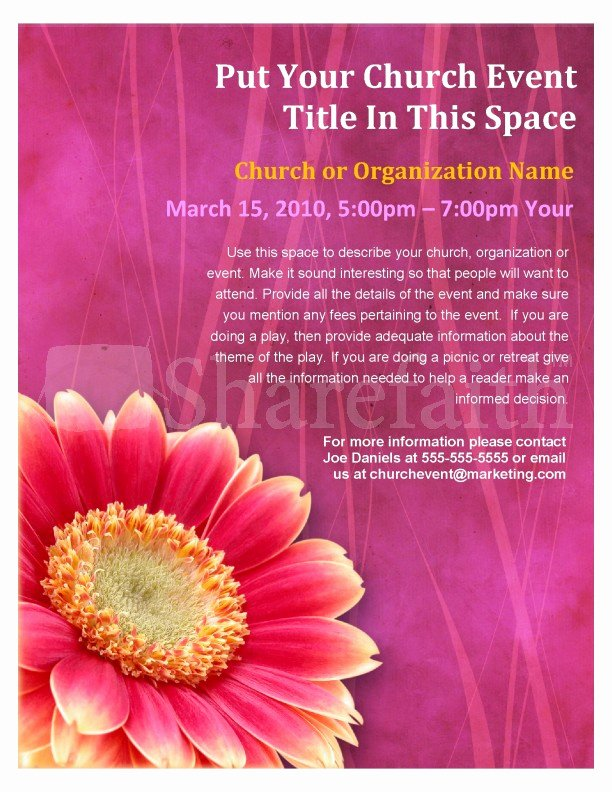 christian mothers day flyer