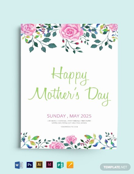 Mother Day Flyer Template Free Unique Free Mothers Day Flyer Template Download 1569 Flyers In