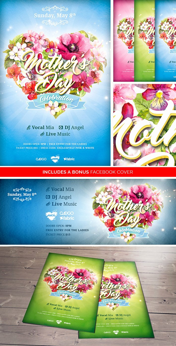 Mother Day Flyer Template Free Unique Mother's Day Celebration Free Psd Flyer Template On Behance