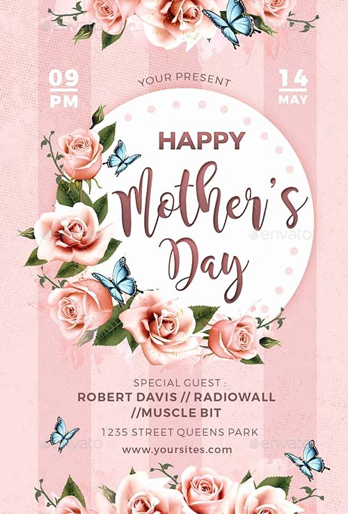 Mother Day Flyer Template Free Unique Mothers Day Flyer Template for the Perfect Mothers Day