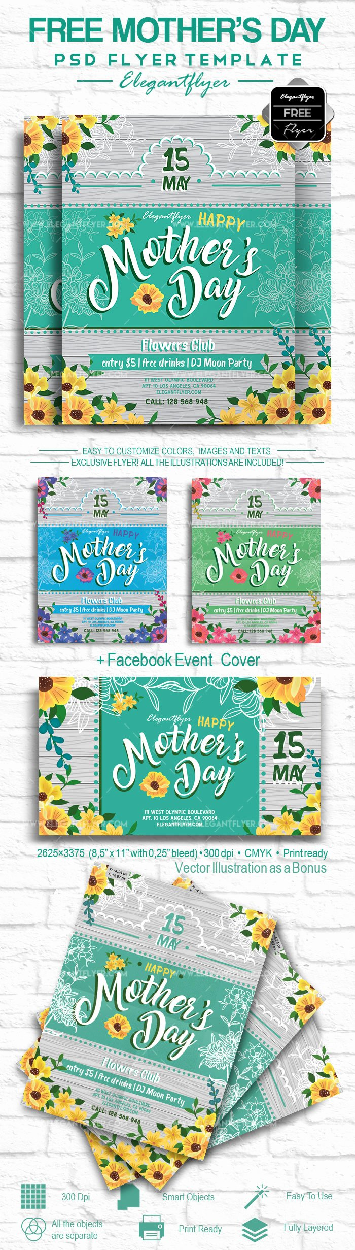 Mother Day Flyer Template Free Unique Mother's Day – Free Flyer Psd Template – by Elegantflyer