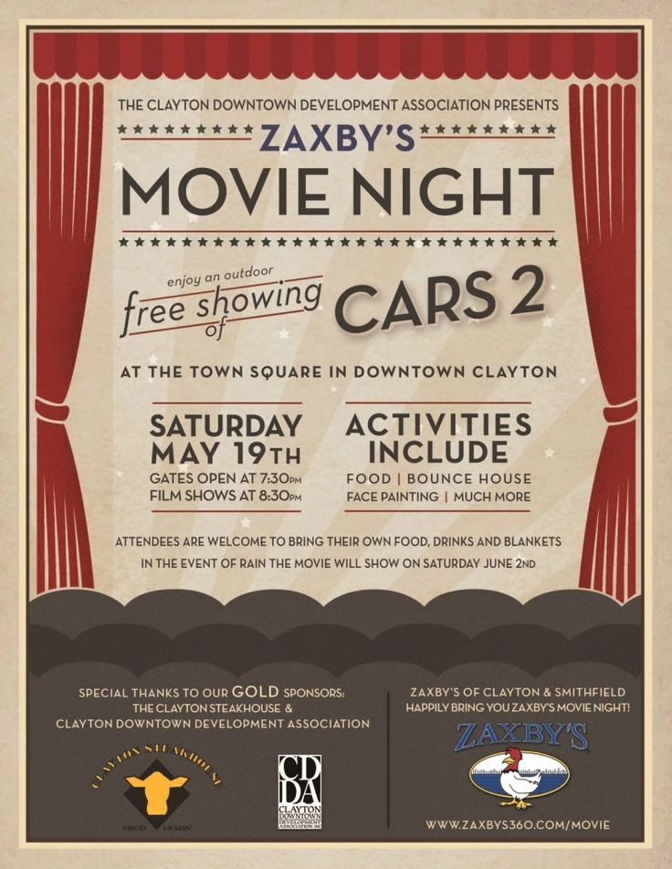 Movie Night Flyer Template Awesome Movie Night Poster Google Search