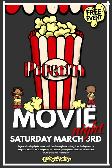 Movie Night Flyer Template Awesome Movie Night Template