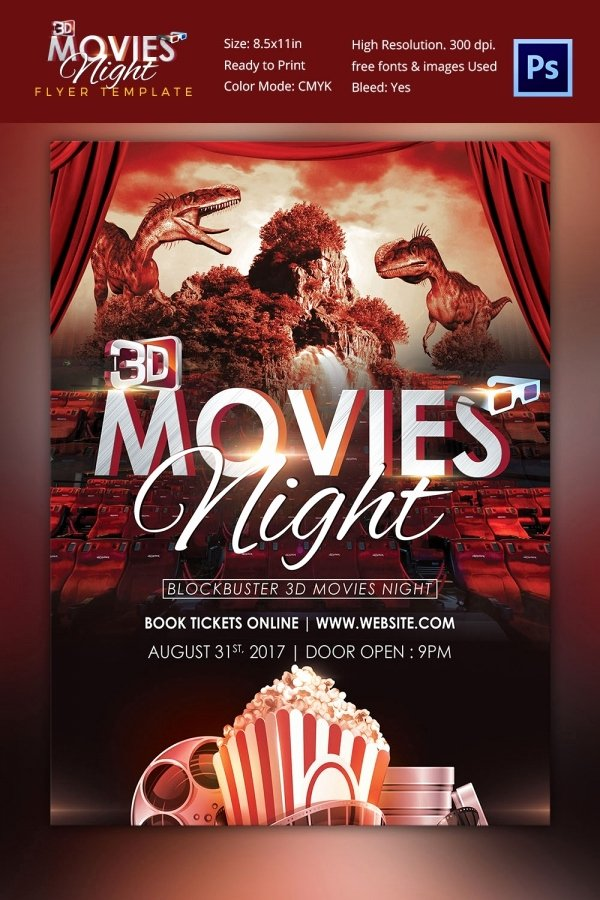 Movie Night Flyer Template Best Of Movie Poster Templates – 44 Free Psd format Download